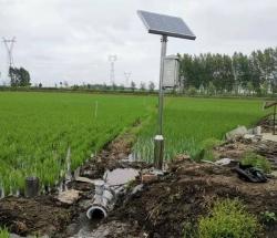 分体电磁式非满管流量计太阳能供电无线通讯使用现场